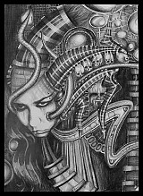 Kresby - Alien self portrait - 2132760