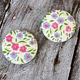 Materiál ručne robený - VÝPREDAJ!! Kvety z porcelánu 38 mm - 2134807