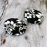 Materiál ručne robený - Gombíky Elegantné kvety 38 mm - 2134921