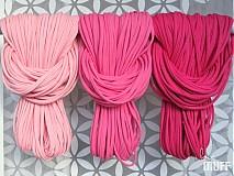 Šály - špagetky - 3 odtiene ružovej - 2136082