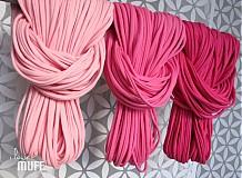 Šály - špagetky - 3 odtiene ružovej - 2136083