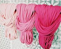 Šály - špagetky - 3 odtiene ružovej - 2136085