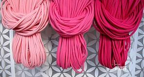 Šály - špagetky - 3 odtiene ružovej - 2136086