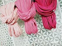 Šály - špagetky - 3 odtiene ružovej - 2136088