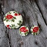 Náušky a brošňa Porcelain flowers
