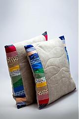Úžitkový textil - vankúš Patchwork (návlek) - 2151799