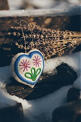Dekorácie - Levanduľové srdiečko 4 - 2152869