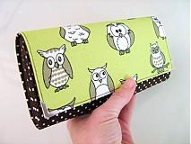 Peňaženky - Proč, ta sova tolik houkala - velká i na karty :-) - 2161302