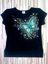 Tričká - Motýľ v zelenom na želanie - 2162555