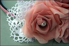 Ozdoby do vlasov - ružová s pierkami - 2173670