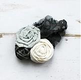 Odznaky/Brošne - Ručne vyrobená textilná brošňa - 2175417