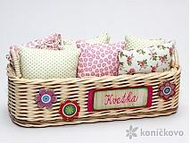 Košíky - Kvetkin košíček pre vankúšiky - 2176999