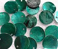 - Placička perleť 15mm-smaragd-1ks - 2184357