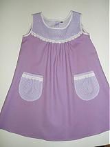 Detské oblečenie - Fialkové detské šatôčky v.104 - zľava! - 2186297