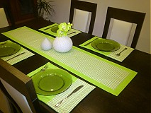 Úžitkový textil - Zelená kocka - 2187962