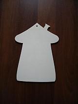 Materiál ručne robený - Tabuľka na dvere - domček - 2196108