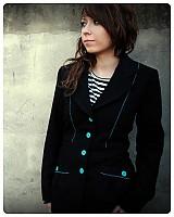 Kabáty - Čierne  sako s tyrkysovou výšivkou... - 222049