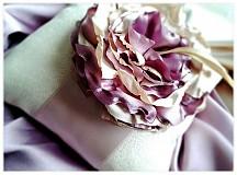 Prstene - Vankúšik pink flower - 2225418