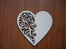 Materiál ručne robený - Drevené srdce - ornament - 2225615