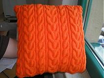 Úžitkový textil - Pletený vankúš - 2236057