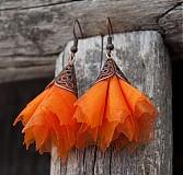 Náušnice - Tanečniče oranžové - 2238215