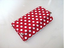 Peňaženky - Red Dots- 17 x 10,5 na karty i fotky - 2239471