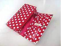 Peňaženky - Red Dots- 17 x 10,5 na karty i fotky - 2239473