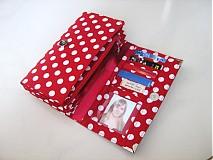 Peňaženky - Red Dots- 17 x 10,5 na karty i fotky - 2239475