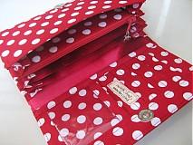 Peňaženky - Red Dots- 17 x 10,5 na karty i fotky - 2239476