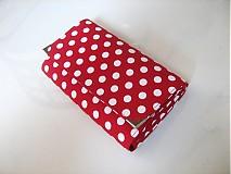 Peňaženky - Red Dots- 17 x 10,5 na karty i fotky - 2239477