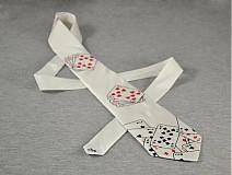- Bílá kravata s kartami - 2245960
