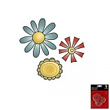 Pomôcky/Nástroje - S234 Transparentná pečiatka Imaginisce - 3 kvety - 2246089