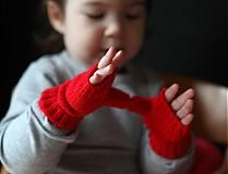 Detské doplnky - Rukavičky bezprstové detské - 2246258