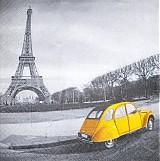 Papier - Eifelovka a žlté auto - 2256333