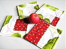 Úžitkový textil - Voní po jablíčkách - podšálečky - 2256555