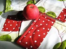 Úžitkový textil - Voní po jablíčkách - podšálečky - 2256556