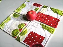 Úžitkový textil - Voní po jablíčkách - podšálečky - 2256557