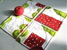 Úžitkový textil - Voní po jablíčkách - podšálečky - 2256558