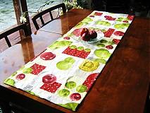 Úžitkový textil - Běhoun na stůl - Voní po jablíčkách - 2256575