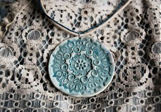 Náhrdelníky - Modrý kvet - 2263426