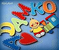 Tabuľky - Drevené písmenká ADAMKO - 2264824