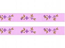 Galantéria - Stuha rypsová 17mm Kvetinka Pastel Lilac - 2267832