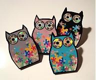 Náušnice - lil owl - 226797