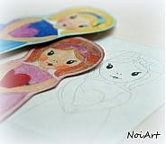 Papiernictvo - Dievčatko na vymaľovanie 1 - 2269633