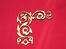 Materiál ručne robený - Vyrezavaný ornament 1 - 2272602