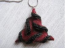Náhrdelníky - Čokoládkový točený trojuholník :-) - 2279170