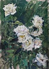 Obrazy - Reprodukcia - Biele ruže - 2282179