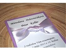 - Svadobné  oznámenie 014-fialové - 2292462