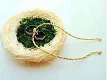 Svadba - hniezdočko na obrúčky,s machom... - 2296251