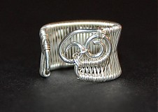 Prstene - strieborný vypletaný prsteň - 229670